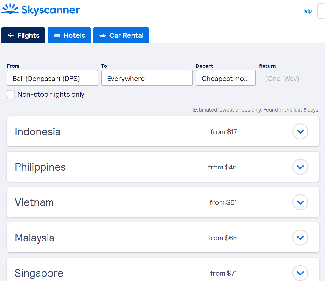 what is the cheapest destination to fly to