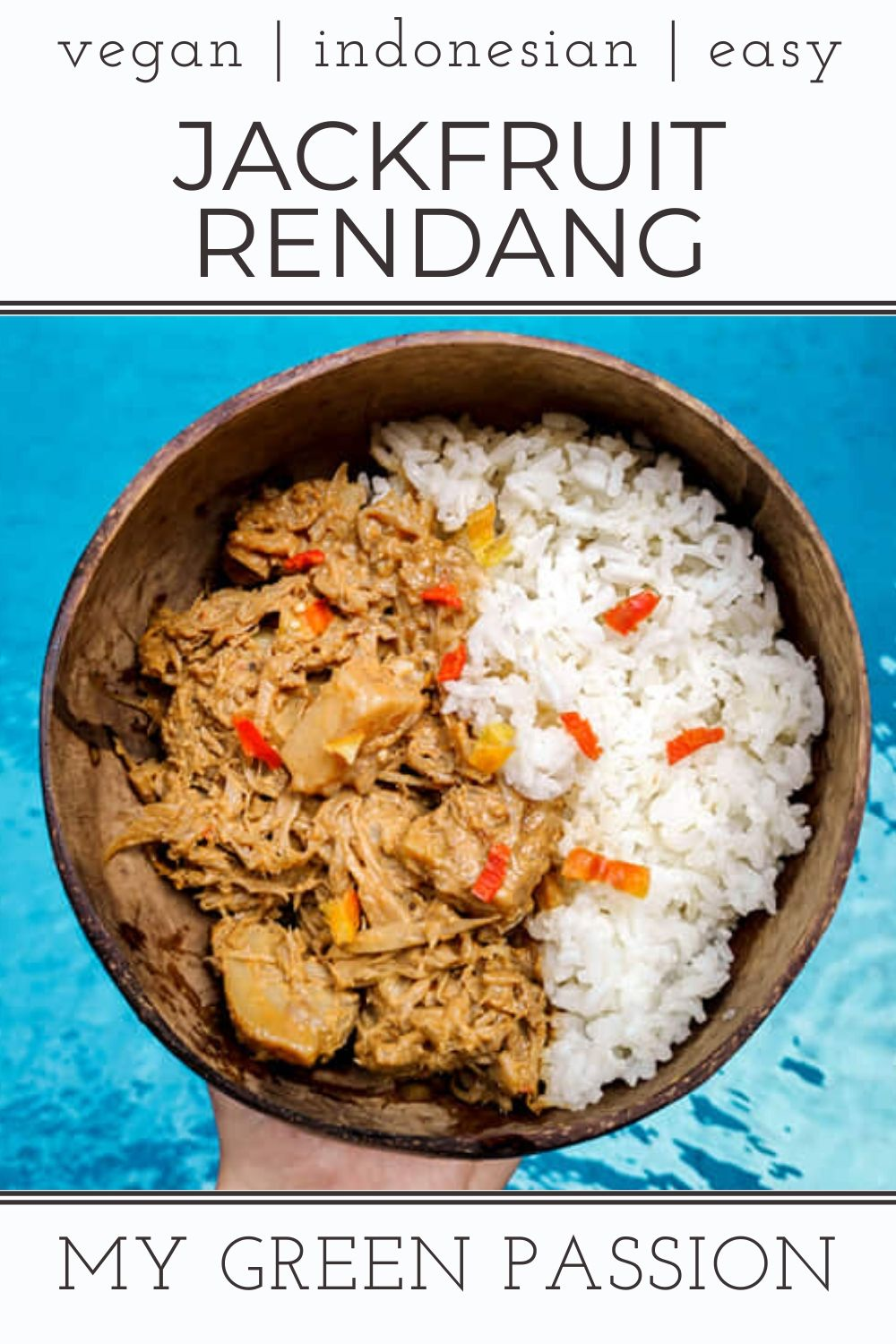 vegan jackfruit rendang curry indonesian easy delicious gluten-free plant-based with potato