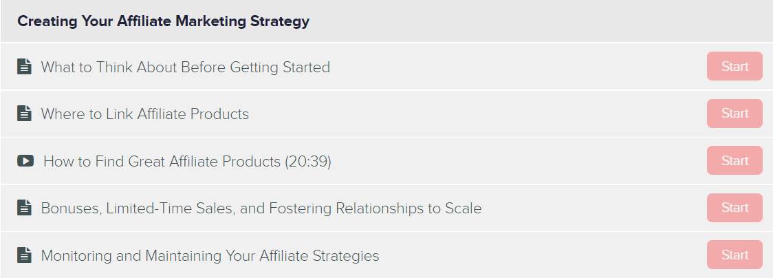 Creating your affiliate marketing strategy