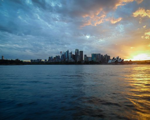 Sydney Opera House Harbour Bridge Sunset
