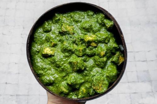 palak tofu indian spinach tofu curry