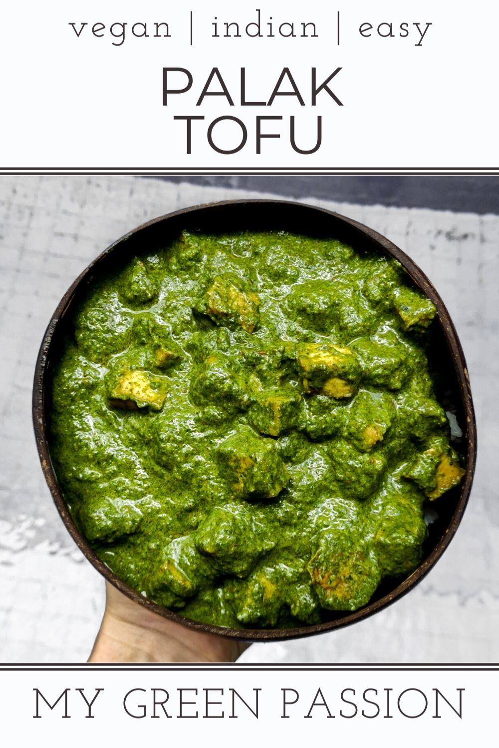 palak tofu vegan indian spinach tofu curry easy gluten-free
