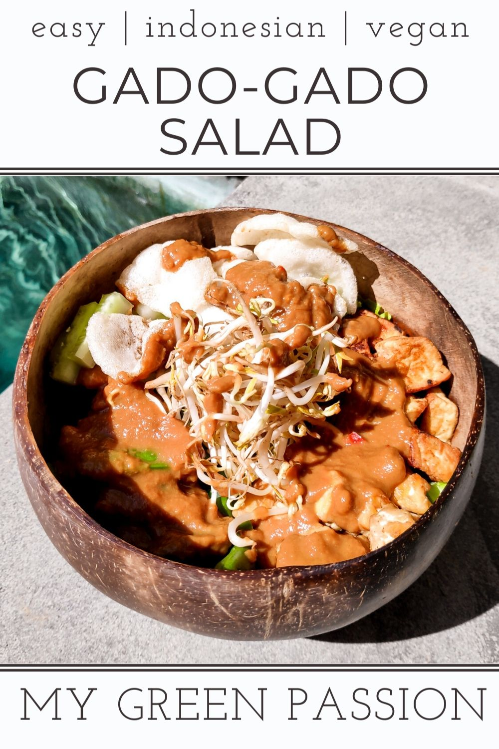 vegan gado-gado salad easy indonesian plant-based tofu tempeh