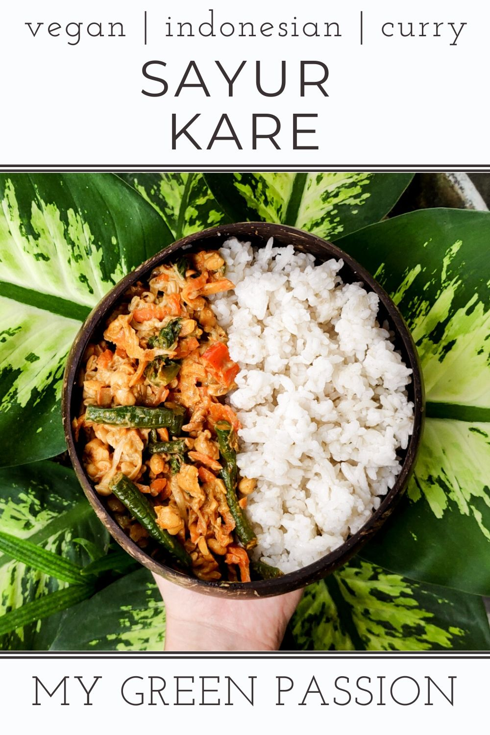 sayur kare vegan indonesian vegetable curry plant-based easy quick gluten-free
