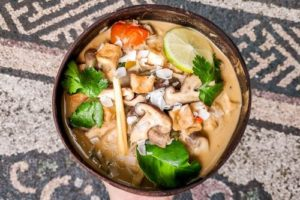 vegan thai coconut lemongrass soup