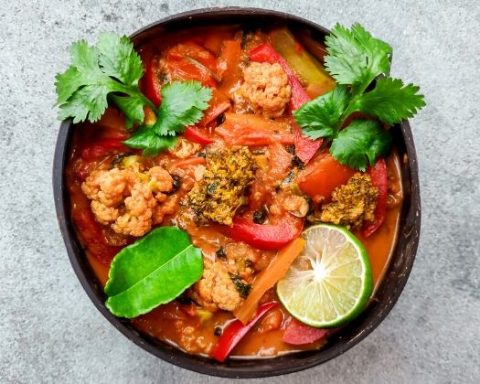 vegan thai red curry gluten-free plant-based easy