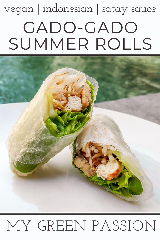 vegan gado gado summer rolls with satay sauce indonesian
