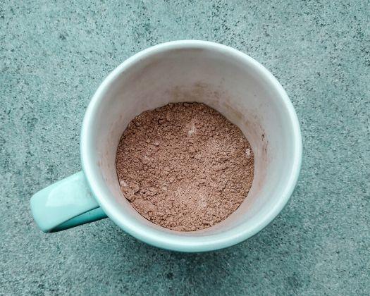 vegan chocolate peanut butter mug cake easy simple recipe 1 minute microwave gluten-free option