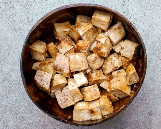 Marinate the tofu for at least 15 minutes